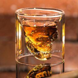 Kielon kieliszek do whiskey czaszka zagłady do alkoholu odwrócona szklanka