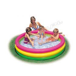 Mały basen dla dzieci z dmuchaną podłogą 3-kolorowy 114 x 25 cm Intex 57412