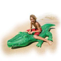 Dmuchany aligator do pływania 168 x 86 cm jednoosobowy INTEX