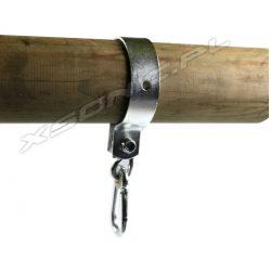 Obejma do belki okrągłej 10 cm z karabińczykiem metalowa