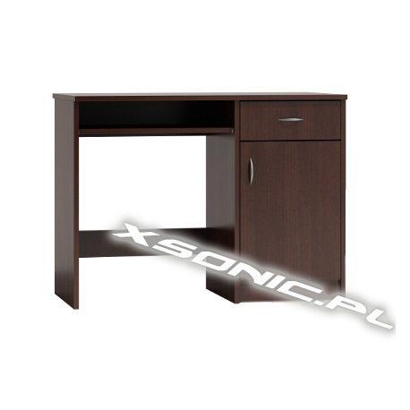 Biurko komputerowe DS 100 cm z wyjeżdżającą półką szufladą i szafką