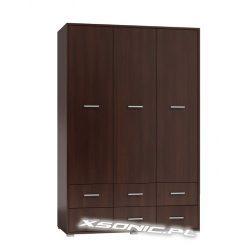 Duża szafa garderoba do sypialni MAJKA 3D6S 120cm dąb Craft sonoma