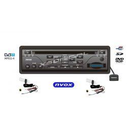 Samochodowy odtwarzacz DVD marki NVOX tuner DVB-T złączem SD USB