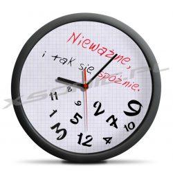 Zegar dla spóźnialskich nie nauczy punktualności ale za to Cię wyluzuje