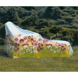 Pokrowiec na leżak ogrodowy 1680 x 730 x 780 wykonany z grubej folii PE