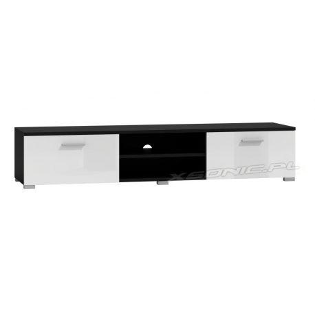 Stolik pod TV RTV LCD wysoki połysk 160 cm front połysk po bokach szafki