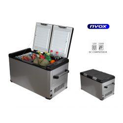 Lodówka turystyczna marki NVOX z zasilaniem 12 230V o pojemność 60L z zamrażalnikiem sprężarkowa