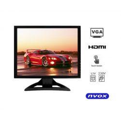 Monitor z matrycą dotykową o przekątnej 17 cali NVOX - matryca LED, VGA, HDMI