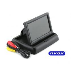 Monitor samochodowy flip-up 4,3 cala otwierany do kamery cofania 2 x AV