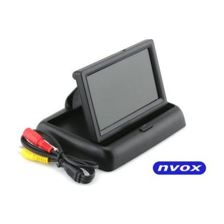 Monitor samochodowy LCD typu flip-up NVOX 4,3 cala dedykowany do kamery cofania dwa wejście AV zasilanie 12V