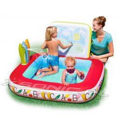 Dmuchany basen dla dzieci Rysuj i Ucz się 132 x 132 x 81 cm Bestway 52184