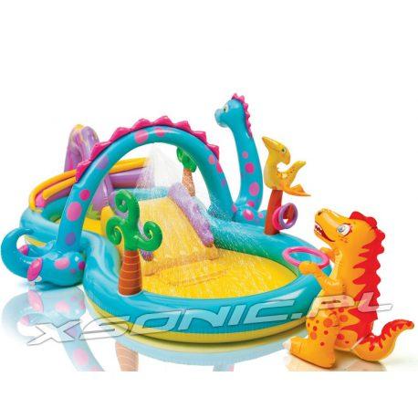 Dmuchany wodny plac zabaw Dinozaury 333 x 229 x 112 cm INTEX 57135