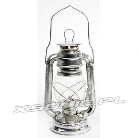 Lampa naftowa sztormowa stal cynkowana wysokość 28cm firmy BO Camp