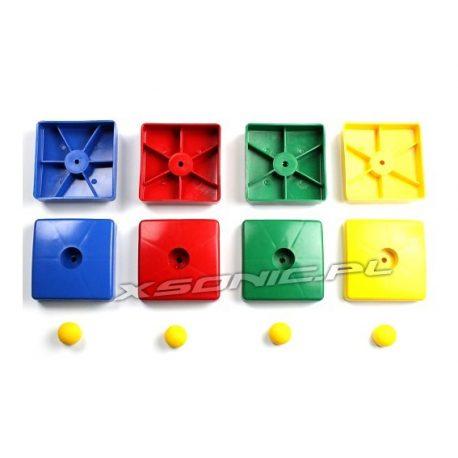 Zaślepka kwadratowa maskująca śruby na belkce placu zabaw 90 mm