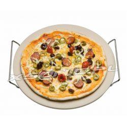 Kamień do pizzy z uchwytami 33cm średnicy okrągły do pieczenia 300ºC