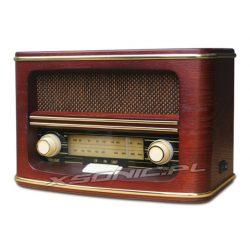 Piękne radio RETRO w drewnianej obudowie firmy CAMRY Tuner FM