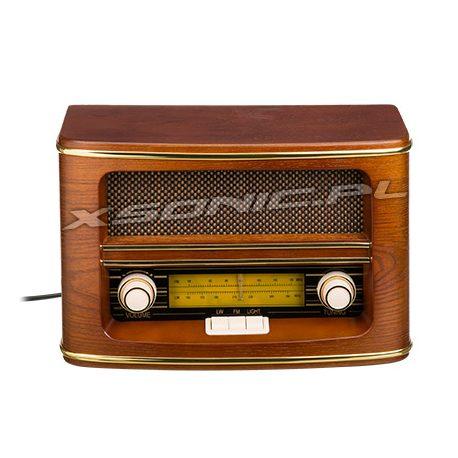 Piękne radio RETRO w drewnianej obudowie CAMRY Tuner FM CR 1103