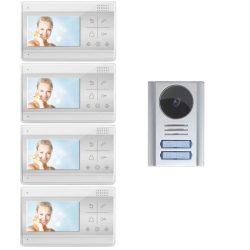 Wideodomofon czterorodzinny z kamerą na podczerwień i 4 odbiornikami LCD 4.3 cali Reer Electronics