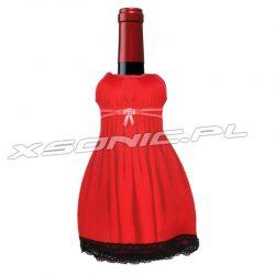 Lady sukienka na butelkę która utrzyma odpowiednią temperaturę alkoholu