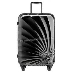 Średnia walizka na 4 kołach z motywem słońca - Stratic Sun