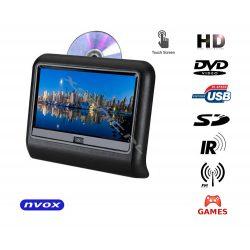 Przenośny odtwarzacz DVD montowany na zagłówku NVOX 9 cali TFT LCD dotykowy ekran HD SD USB DVD