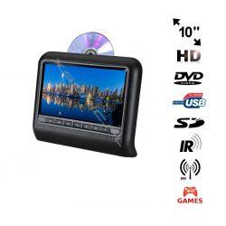 Przenośny odtwarzacz DVD montowany na zagłówku NVOX 10 cali TFT LCD HD SD USB nadajnik IR FM