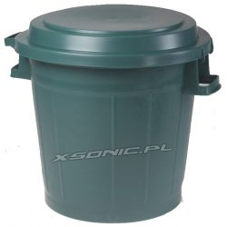 Kosz na śmieci i odpady o pojemności 75L do ogrodu wykonany z wysokogatunkowego plastiku