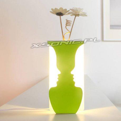 Twarzowa lampka wazon oryginalna iluzja złudzenie optyczne stojąca wisząca