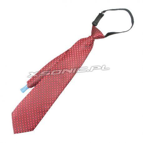 Imprezowy krawat w paski 2w1 z wkładką na napoje ukryty pojemnik czerwony lub niebieski