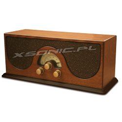 Radio z drewna LW/FM w stylu retro drewniane Camry jak starodawne CR 1108