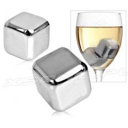 Metalowe kostki chłodzące do drinków 4 sztuki w zestawie zamiast lodu