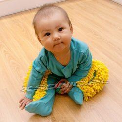 Baby mop czyli ubranko dla dziecka z mopem z mikrofibry