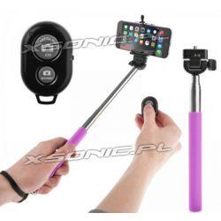 Statyw do telefonów do robienia selfie monopod z pilotem bluetooth czarny lub fioletowy