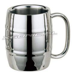 Kufel kubek termiczny Iron Chiller metalowy beczułka schłodzone piwo 450ml