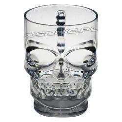 Szklany stylowy kufel do piwa czaszka 550 ml kubek szklanka
