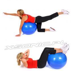 Piłka gimnastyczna do ćwiczeń fitness 75cm z pompką w zestawie