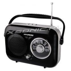 Przenośne radio Hyundai PR100 z rączką Retro wygląd czarne lub beżowe