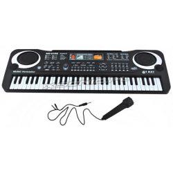 Keyboard organy elektroniczne 61 klawiszy z mikrofonem do nauki