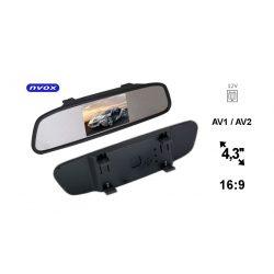 Ekran w lusterku samochodowym z matrycą o przekątnej 4.3 cala NVOX dwa wejścia AV