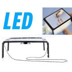 Lupa A4 stolik z oświetleniem do czytania diody led z lampką światło zawieszka na szyję