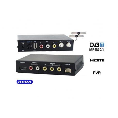 Samochodowy tuner DVB-T telewizja w aucie MPEG-2 4 aktywne anteny wyjście HDMI