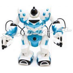 Duży robot humanoidalny RC zdalnie sterowany chodzi podnosi przedmioty i rzuca nimi