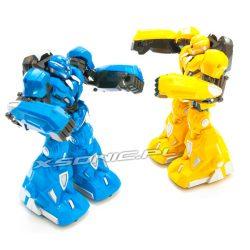 Zestaw walczących robotów bitewnych RC 2 sztuki w zestawie niebieski i żółty