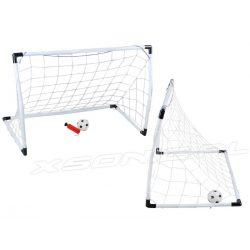 Zestaw bramek piłkarskich dla małego sportowca bramka piłka i pompka w zestawie