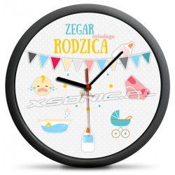 Zegar młodego rodzica zabawny i uniwersalny pokazujący rodzicom pierwsze tygodnie życia noworodka