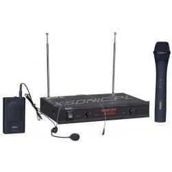 Bezprzewodowy system mikrofonowy 2-kanałowy dwa mikrofony w zestawie