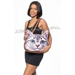 Damska torba na ramię z efektem 3D kotek kolorowe oczy niesamowity efekt