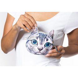 Saszetka na drobiazgi portfelik efekt 3D kotek kolorowe oczy wystające uszy portmonetka