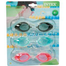 Okulary do pływania 3-pak różne kolory zestaw okularów wiek od 8 lat INTEX 55674