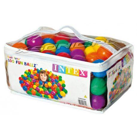 Piłeczki do brodzika basenu placu zabaw 100 sztuk torba do przenoszenia INTEX 49602